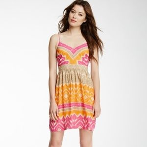 Trina Turk Gypsum Silk Blend Dress Cactus Flower